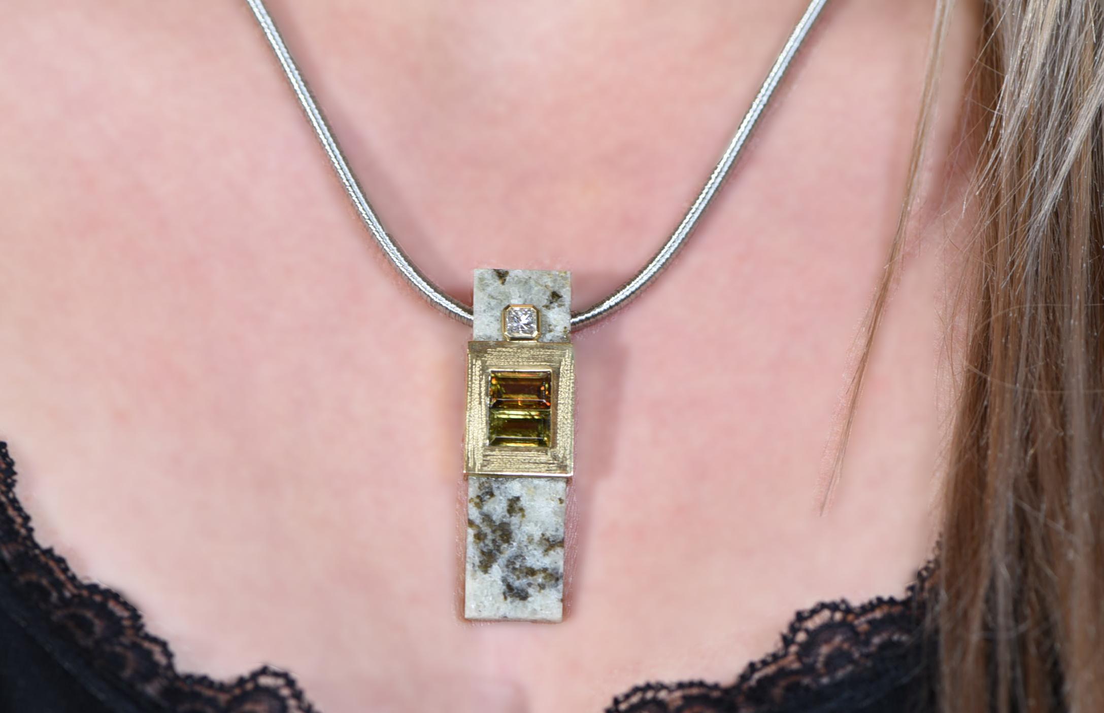 Titanite pendant